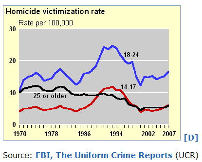 Young Adults Experience the Highest Homicide Rates